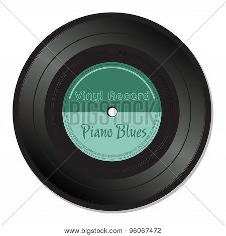 Piano blues vinyl record