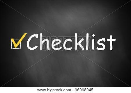 Chalkboard With Checkbox Checklist