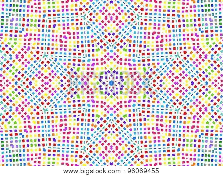 Bright Colorful Concentric Pattern