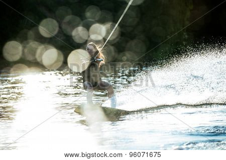 Splashing wakeboard