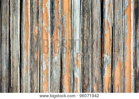 Background Texture Of A Weathered Wooden Fence