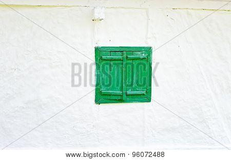 Green Wooden Window Shutters