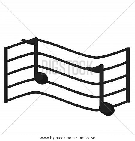 Music Scale Illustration