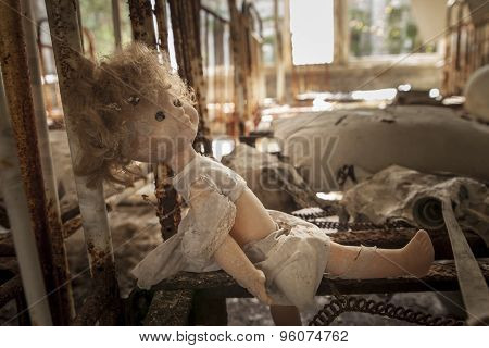 Chernobyl - Doll On Rusty Bed Base