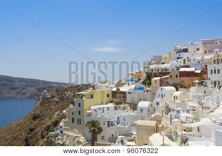 Famous village of Oia in Santorini