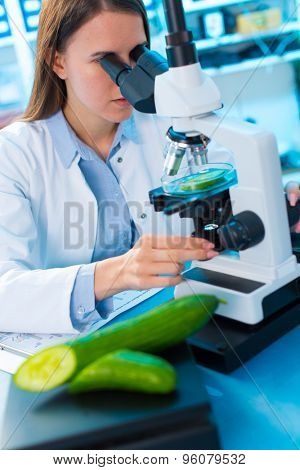 Inspection of fruits and vegetables for harmful substances