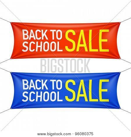 Back to School sale banner. Vector.