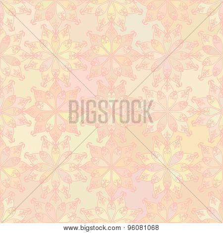 Abstract vector background Seamless oriental texture Yellow color