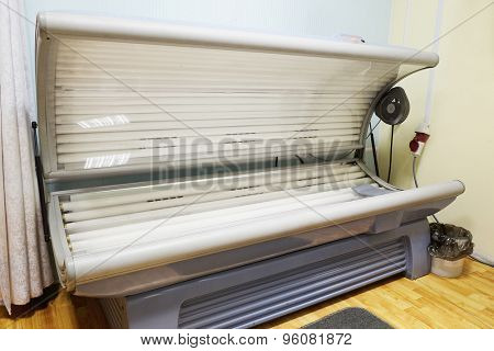 Tanning bed in a salon