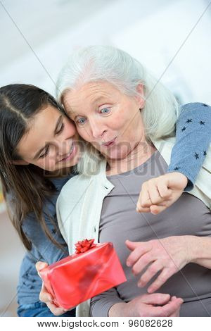 Giving grandma a gift