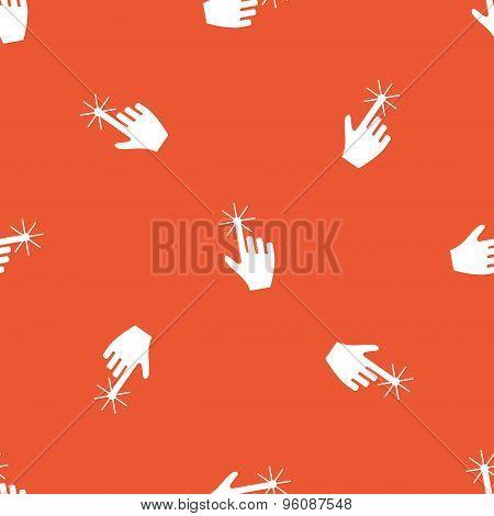 Orange hand cursor pattern