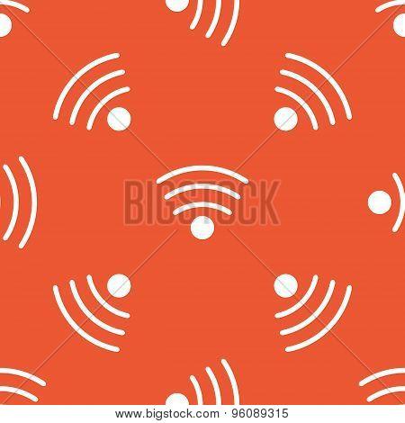 Orange Wi-Fi pattern