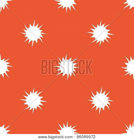 Orange starburst pattern
