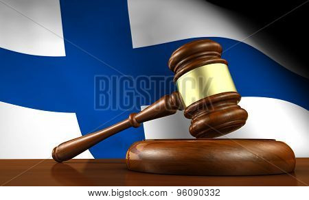 Finland Law And Justice Concept