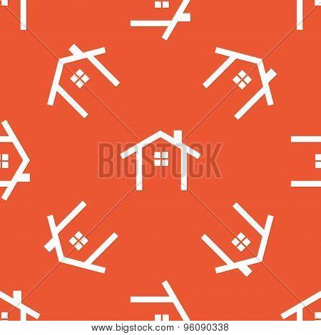 Orange cottage pattern