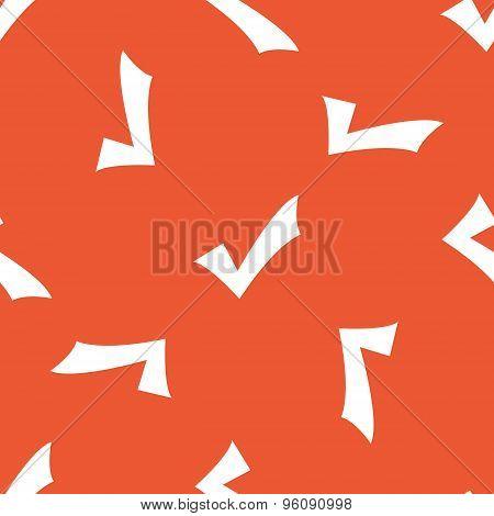 Orange tick mark pattern