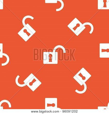 Orange open padlock pattern