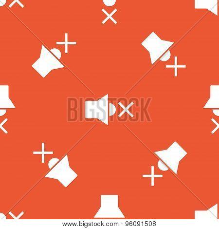 Orange muted loudspeaker pattern