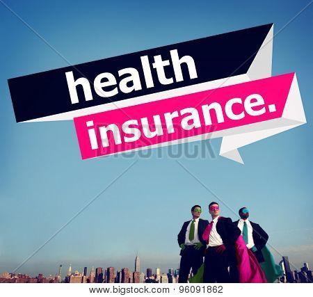 Health Insurance Protection Risk Assessment Assurance Concept