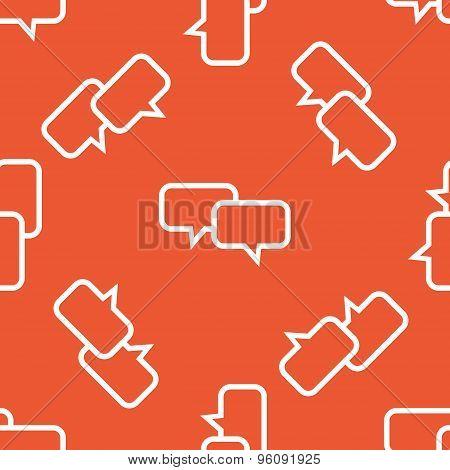 Orange chat pattern
