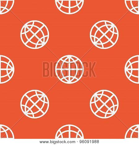 Orange globe pattern