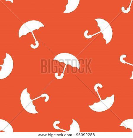 Orange umbrella pattern