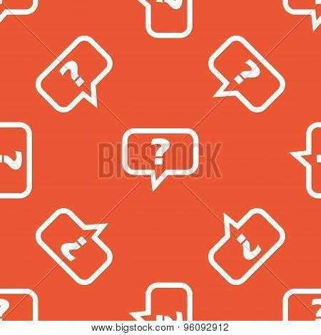 Orange question pattern