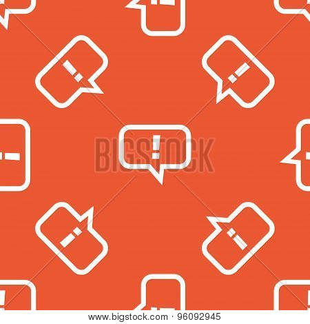 Orange answer pattern