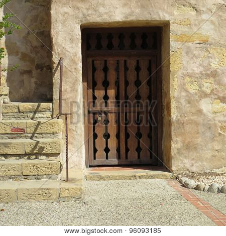 Old Mission Stairs And Door