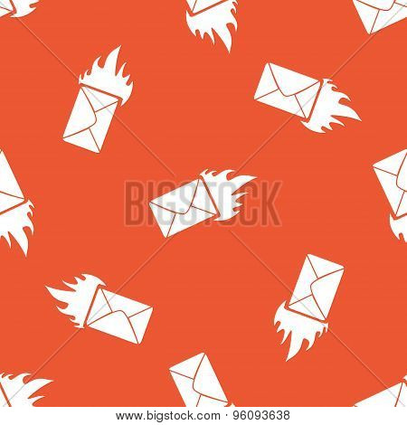 Orange burning letter pattern