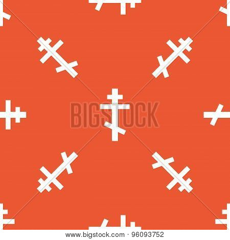 Orange orthodox cross pattern