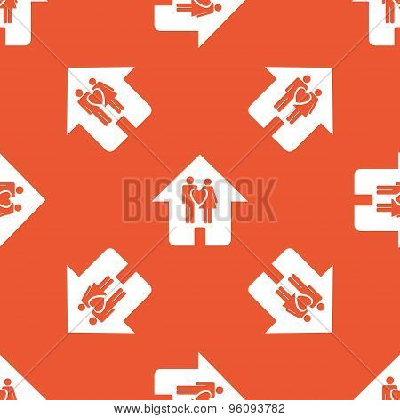Orange family house pattern