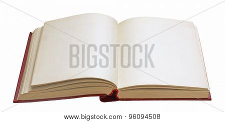 blank open book on white background, vector