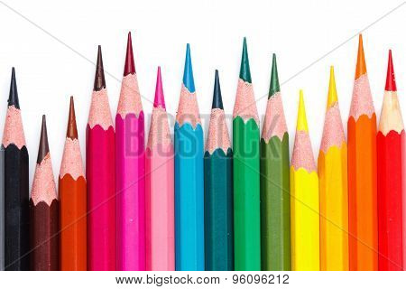 Colored Pencils, Different Size