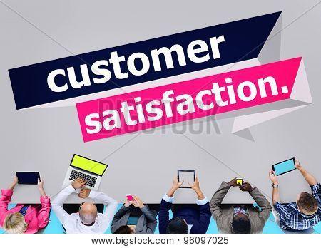 Customer Satisfaction Service Efficiency Consumer Concept