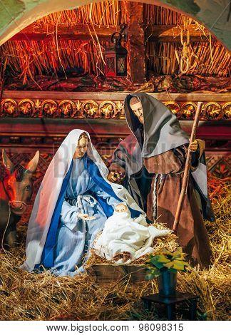 Nativity Of Jesus Beautiful Scene