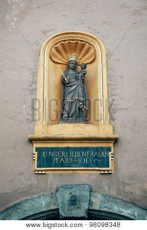 Liebfrauenkirche (german For Church Of Our Lady) Statue