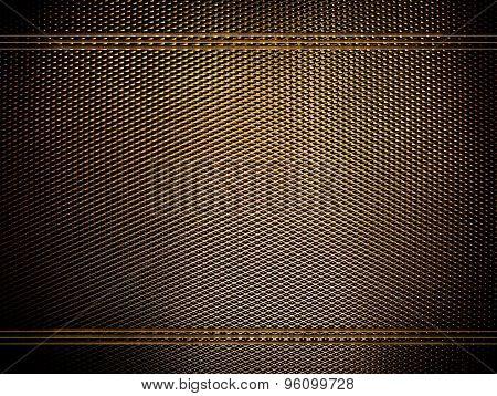 golden metal mesh background