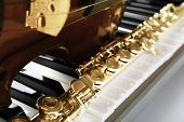 pic of wind instrument  - Musical instruments close up - JPG