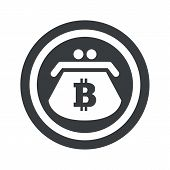 stock photo of bitcoin  - Image of purse with bitcoin symbol in circle - JPG
