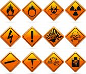 picture of non-toxic  - 12 glossy hazard signs - JPG