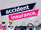 picture of accident emergency  - Accident Insurance Protection Damage Safety Concept - JPG