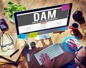 foto of dam  - DAM Digital Asset Management Organization Concept - JPG