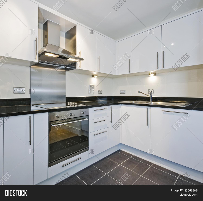 Woonkamer behang blauw - Granieten werkblad keuken ...
