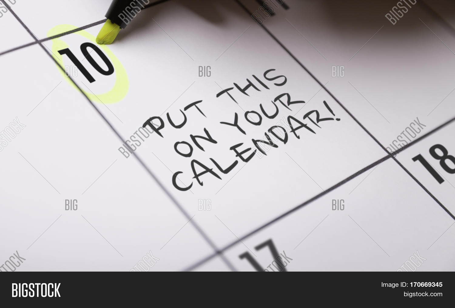 put this on your calendar stock photo amp stock images
