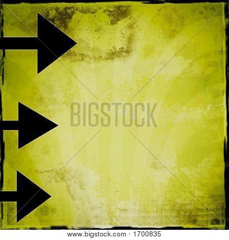 Grunge Arrow Background