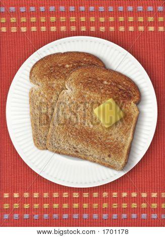 Toast On Orange Placemat