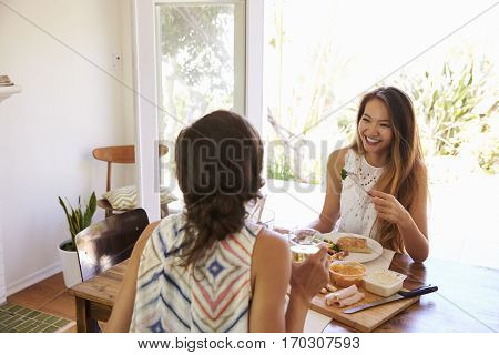 Two Female Friends Enjoying Meal