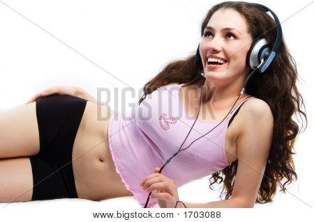 Girl In Headphones 5