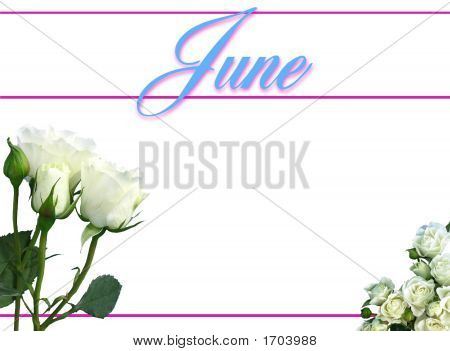 June Calendar On White Background